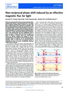 Non-reciprocal phase shift induced by an ... - Stanford University
