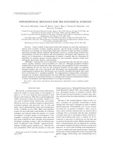 nongeospatial metadata for the ecological ... - Wiley Online Library