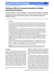 Nonlinear effects of consumer density on ... - Wiley Online Library
