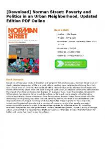 Norman Street: Poverty and Politics in an Urban Neighborhood ...