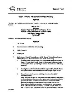 notice of advisory committee meeting -