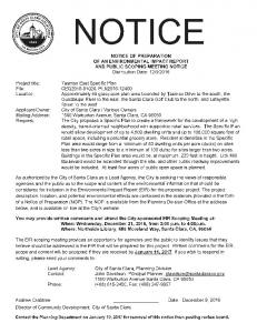 NOTICE OF PREPARATION OF AN ... -