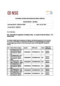 NSE/CML/32867 Date : July 26, 2016 Circular Ref.