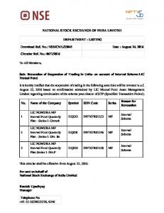 NSE/CML/33045 Date : August 24, 2016 Circular R