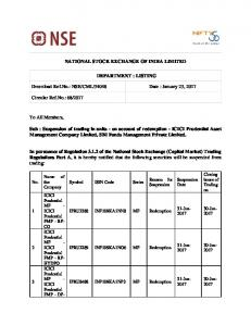 NSE/CML/34048 Date : January 23, 2017 Circular R