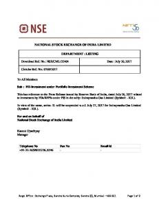 NSE/CML/35464 Date : July 26, 2017 Circular Ref