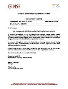 NSE/CML/37233 Date : March 19, 2018 Circular Re