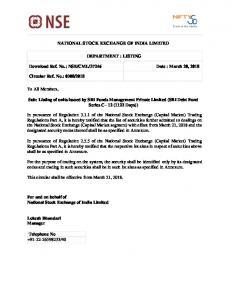 NSE/CML/37246 Date : March 20, 2018 Circular Re
