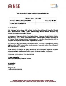 NSE/CML/37722 Date : May 09, 2018 Circular Ref.
