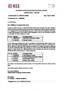 NSE/CML/37836 Date : May 25, 2018 Circular Ref.