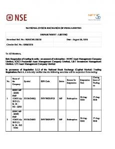 NSE/CML/38530 Date : August 06, 2018 Circular R