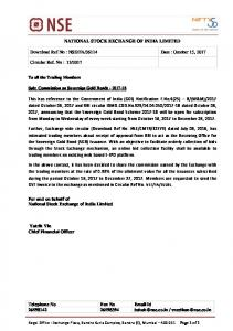 NSE/FA/36114 Date : October 15, 2017 Circular Ref. No