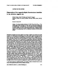 Observation of the magnetic-dipole fine-structure transition in ... - naomib