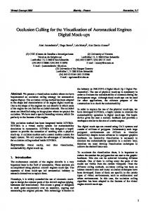 Occlusion Culling for the Visualization of Aeronautical Engines Digital ...