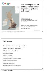 Ofcom Technology Tracker - Research at Google