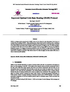 (OLSR) Protocol - International Journal of Research in Information ...