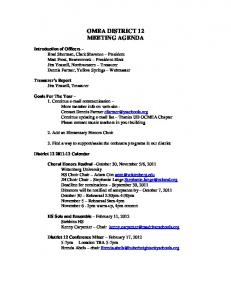 omea district 12 meeting agenda