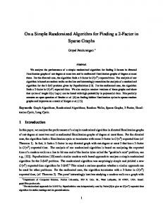 On a Simple Randomized Algorithm for Finding a 2 ... - Semantic Scholar