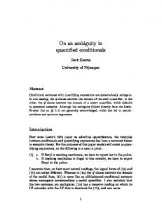 On an ambiguity in quantified conditionals
