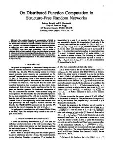On Distributed Function Computation in Structure-Free ...