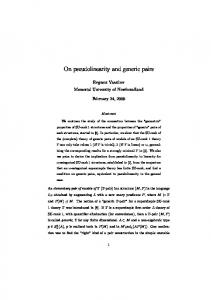 On pseudolinearity and generic pairs