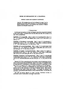 ON SEPARATION OF A DIAGONAL 1. Introduction In ...