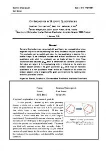 On sequences of Bincentric Quadrilaterals