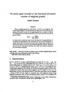 On some upper bounds on the fractional chromatic ...