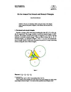 On the Areas of the Intouch and Extouch Triangles - Forum ...