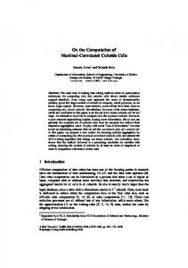 On the Computation of Maximal-Correlated Cuboids Cells