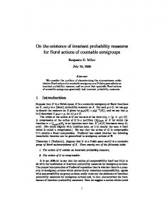 On the existence of invariant probability measures for Borel actions of ...