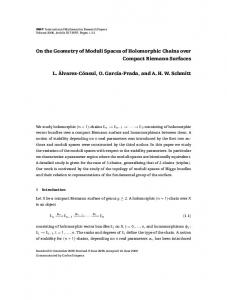 On the Geometry of Moduli Spaces of Holomorphic ...