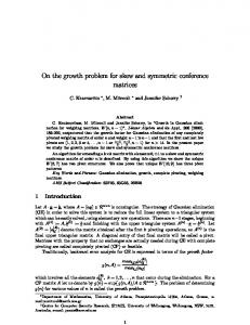On the growth problem for skew and symmetric ...