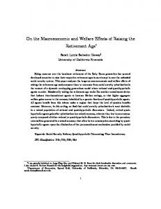 On the Macroeconomic and Welfare Effects of ...
