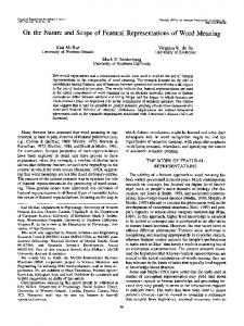 On the Nature and Scope of Featural ... - Semantic Scholar