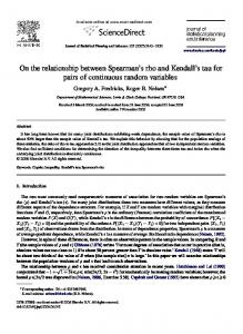 On the relationship between Spearman's rho and Kendall's tau for ...