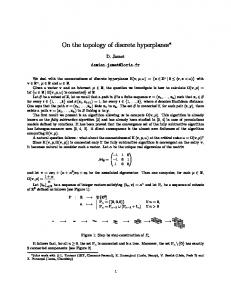 On the topology of discrete hyperplanes