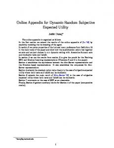 Online Appendix for Dynamic Random Subjective ...