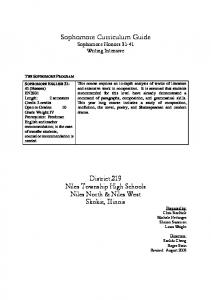 Open - Niles Township High Schools District 219