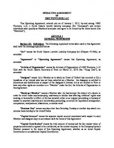 operating agreement -