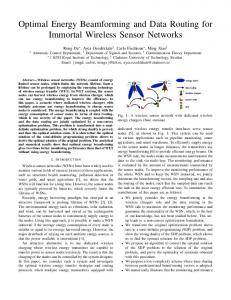 Optimal Energy Beamforming and Data Routing for Immortal Wireless ...