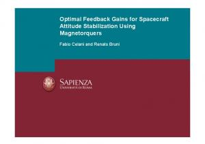 Optimal Feedback Gains for Spacecraft Attitude ...
