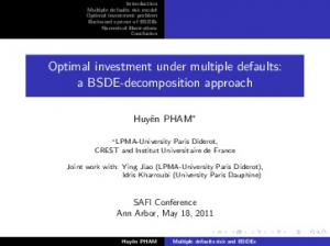 Optimal investment under multiple defaults: a BSDE ...