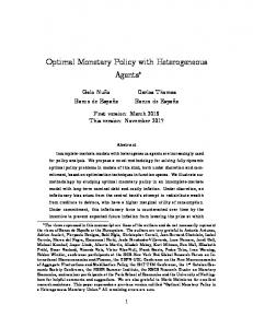 Optimal Monetary Policy with Heterogeneous Agents