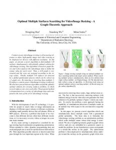 Optimal Multiple Surfaces Searching for Video/Image Resizing - A ...
