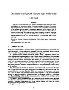 Optimal Stopping with General Risk Preferences