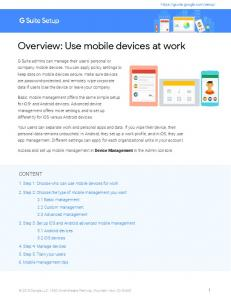 Overview: Use mobile devices at work - G Suite