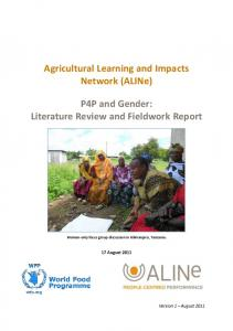 P4P and Gender: Literature Review and Fieldwork Report