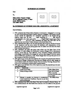 Page 1 of 4 EXPRESSION OF INTEREST Date: To ... -