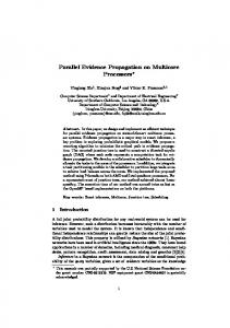 Parallel Evidence Propagation on Multicore Processors - USC